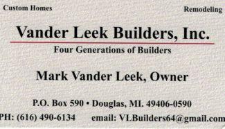VanderLeek Builders, Inc.